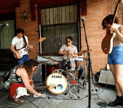 Band on a porch